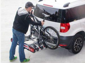 Wypożyczalnia platform rowerowych- bagażnik na hak Łódź